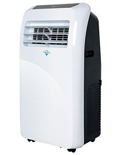 Sytech Aire Acondicionado Portátil, Refrigeración, Ventilador, Deshumificador, Color Blanco