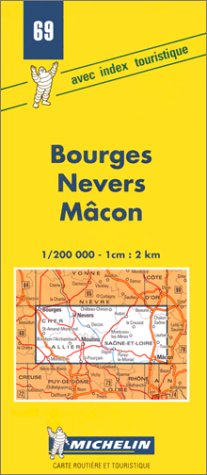 Descargar Libro Carte routière : Bourges - Nevers - Mâcon, 69, 1/200000 de Carte Michelin
