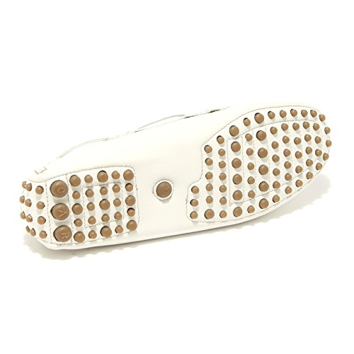 86589 mocassino CAR SHOE CALF BIJOUX scarpa donna loafer shoes women Bianco