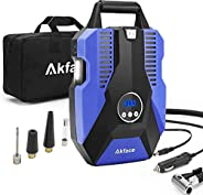 Akface Compresor de Aire Coche,Inflador Coches Portatil,Inflador Neumaticos Hasta 150 PSI,Compresores 12v para