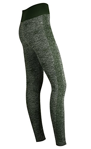 My Socks - Legging de sport - Femme Thick Grey Marl Green Star