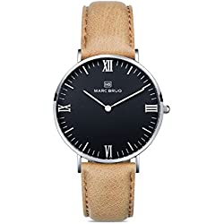 Marc Brüg Ladie's Minimalist Watch Chamonix 36 Hygge Black