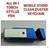 VAGMI All in 1 Torch, Stylus, Pen, Mobile Stand Clean Duster & KeyChain(MULTI)