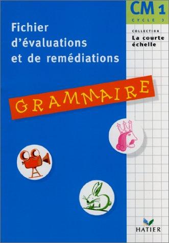 Grammaire CM1. Fichier d'évaluation et de remédiation