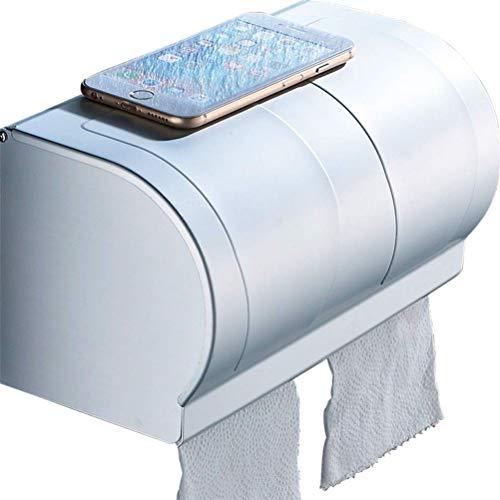WERC Punch-Free Bad Tissue Box Raum Aluminium Toilettenpapier Box Handschale Badezimmer Handtuch Papierhandtuchhalter (Herz Papier-handtuch-halter Mit)