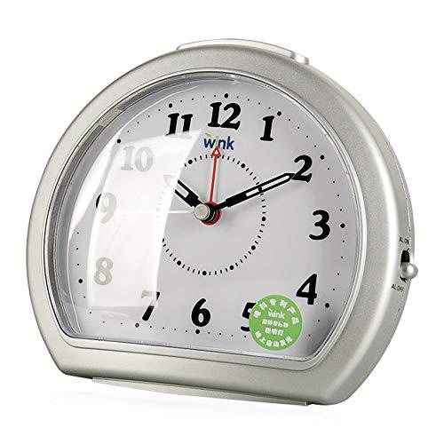 LTOOD Creativo Estudiante niños Despertador Mudo Reloj de cabecera ...