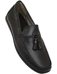 Venturini Mens Leather Slip On Moccasins