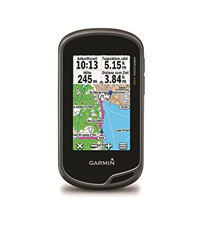 """Garmin Oregon 600 GPS Portatile, Schermo 3"""" Touch, Altimetro e Bussola Elettronica, Grigio/Nero/Arancio"""