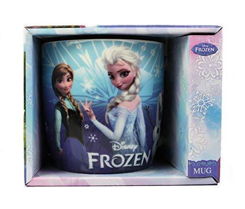 Disney Frozen Tasse Tasse en Céramique, avec Elsa, Anna et Olaf (en Boîte de Cadeau)