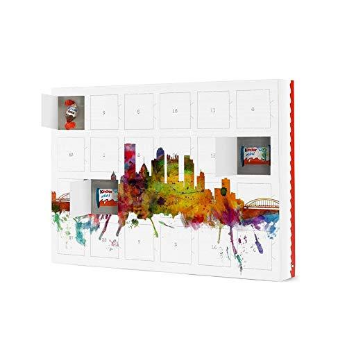 artboxONE Adventskalender XXL mit Produkten von Kinder® Pittsburgh Pennsylvania Watercolor Adventskalender Architektur