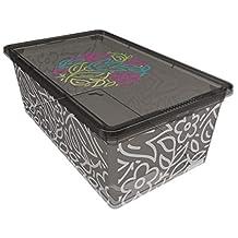 QUTU Light Box Storage Box - Grey, H 19 cm x W 11.5 cm x D 33.5 cm 8695737101742