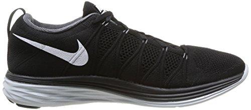 Nike 620465 011 Flyknit Lunar2 Herren Sportschuhe - Running Mehrfarbig (BLACK/WHITE/DARK GREY)