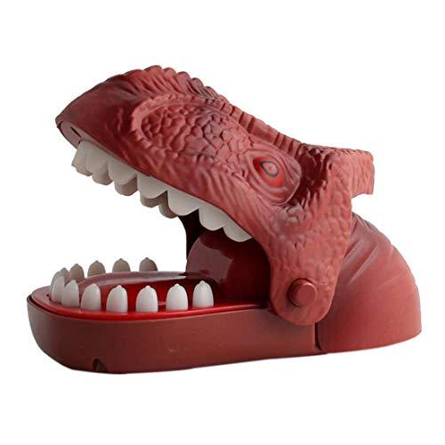 LSQR Dinosauro Creativo mordere Mano Gioco Giocattolo mordere Dinosauro Giocattolo mordere Gioco Classico Partito Gioco Desktop Spoof Gioco,Brown