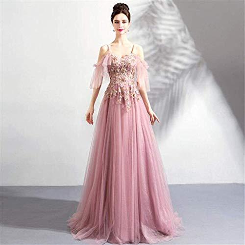 Beautifui-bride abito da sposa donna, sexy semplice moda con scollo a v senza spalline rosa sposa banchetto matrimonio principessa compleanno festa vestito/s