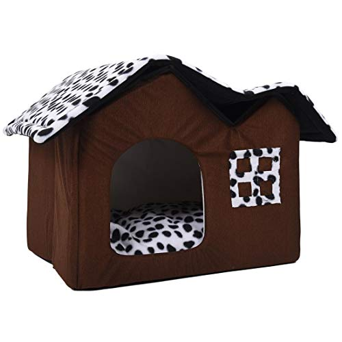 YWEHAPPY Hot Removable Dog Beds Double Pet House Brown Dog Room Cat Dog Dog Cushion Luxury Pet Produkte 55 X 40 X 42 cm
