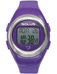 Solus Unisex Digital Watch with LCD Dial Digital Display and Purple Plastic or PU Strap SL-800-203