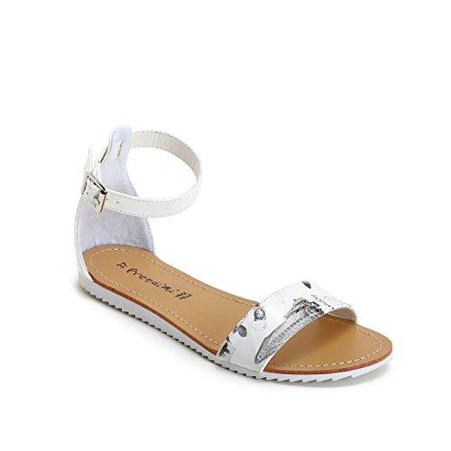 Prendimi by scarpe&scarpe - sandali bassi con cinturino alla caviglia - 36,0, bianco