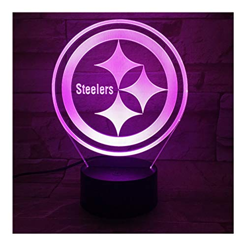 Steelers 3D Led Nachtlicht Mit 7 Farben Licht Für Dekoration Lampe Erstaunliche Visualisierung Optical Weihnachtsgeschenk Für Papa