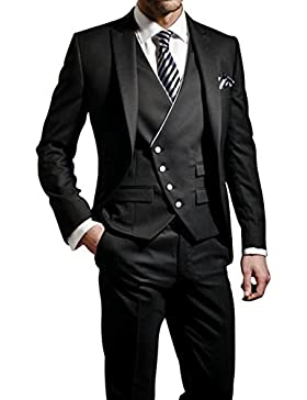 GEORGE Herren Anzug Tuxedos Smokingsakko Anzuege 3-Teilig Anzug Sakko,Anzug Hose,Weste 114