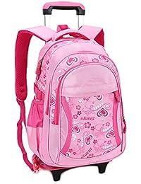 Preisvergleich für Rädern Trolley Rucksack Schultüte - Studenten Rollen Bücher Taschen Mädchen Fashion Travel Daypack