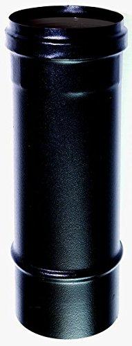 Tubo 0,25 mt dn 80 mm per stufa a pellet o legna tubo nero acciaio smaltato 600 gradi ce made in italy 25 cm 250 mm.