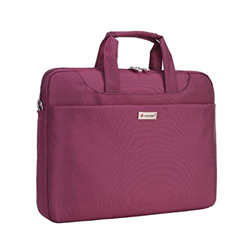 FLHT, Männer Und Frauen Computer Tasche, Handtasche Aktentasche 12-16 Zoll Business Geschenk Tasche Leichte Wasserdichte Messenger Bag Umhängetasche Rucksack,Purple-13inches