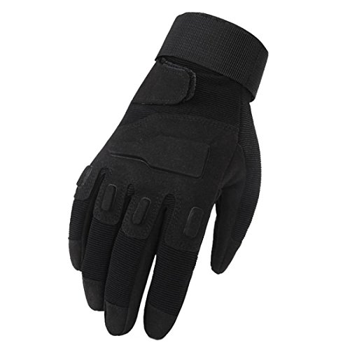 Handschuhe für den Außenbereich, die sich alle auf den Schutz von Handschuhen beziehen rFreitübungstrainingshandschuhe Atmungsaktiv Antirutsch , B, black , l
