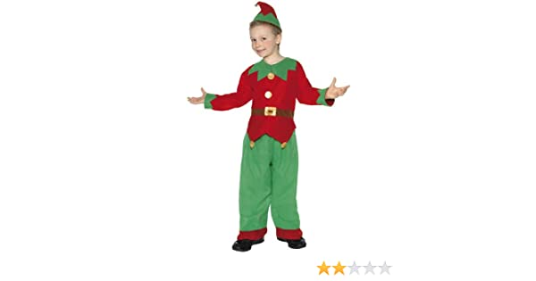 e7609fbe9790 Buy Kids Elf Costume Santa's Little Helper Children Christmas Fancy Dress  Girls Boys Online at Low Prices in India - Amazon.in