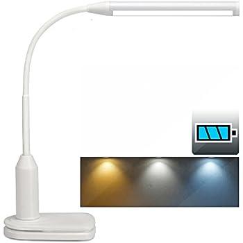 Rechargeable led desk lamp clip light 3 color modes stepless rechargeable led desk lamp clip light 3 color modes stepless dimmable 2000mah aloadofball Gallery