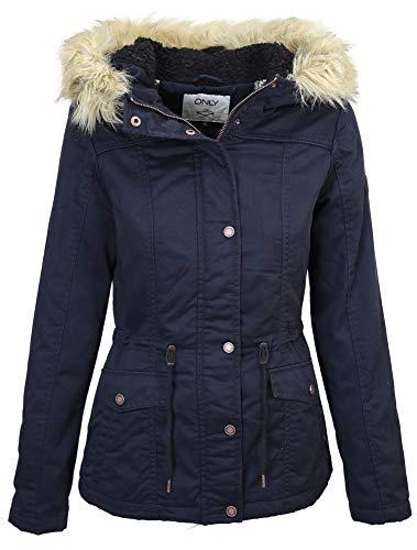 ONLY Damen Winterjacke Parka Canvas Jacket