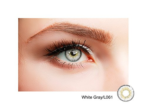 Farbige Kontaktlinsen NATUR GRAU ohne Stärke BESONDERS NATÜRLICH
