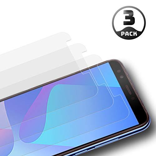 Aribest Huawei Y7 2018 Panzerglasfolie 3 Stück,Panzerglas Schutzfolie Für Huawei Y7 2018/Y7 Prime 2018,Ultra-klar 9H Härte, HD Klar, Anti-Öl,Anti-Kratzen, Anti-Bläschen,3D Touch Kompatibel