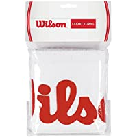 Wilson WRZ540000 Toalla-Unisex, Blanco/Rojo, NS