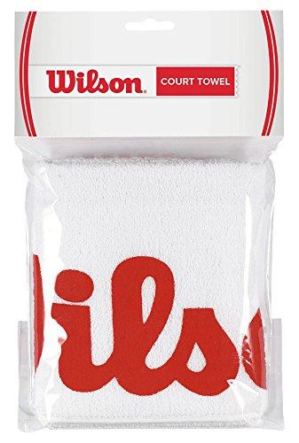 Wilson Court Towel Asciugamani, Bianco/Rosso