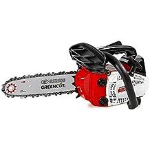 Greencut GS2500 10 - Motosierra de gasolina, color rojo/ negro/ blanco