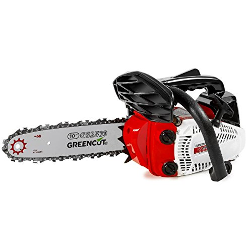 Greencut GS2500 10   Motosierra de gasolina, color rojo/ negro/ blanco