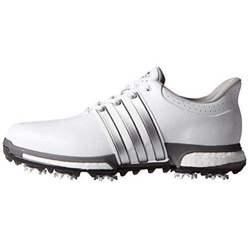 Adidas Tour360Boost Scarpe da golf, Uomo blanco / plata