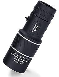 Kimfoxes Monokular Monocular 16x52 Dual Focus Wasserdicht Super Clear Einrohr Teleskop Optik Zoom Monokular Fernrohr leichtgewichtig Teleskop für Outdoor Camping Reise Vögel