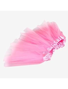 Tutu/Falda Con Tul Rosa Bailarina Danza Baile Diafraz Ballet