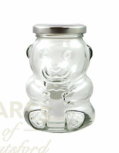 18Stück 280ml Teddy Bär Form Jam Jar Pack of 18 silber (Teddy Bär Form)