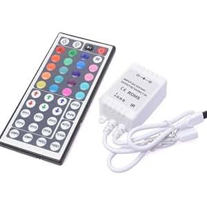Télécommande à IR 44 touches pour bandeau à LED RVB 5050SMD ou 3528 SMD LD044