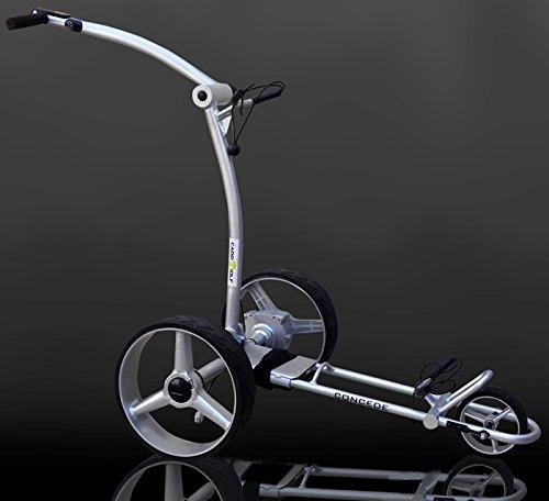 caddy-golf concede Elektro Golf Trolley silber mit Lithium Akku