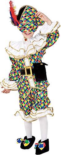 Costume di carnevale da arlecchino baby vestito per bambino ragazzo 1-6 anni travestimento veneziano halloween cosplay festa party 8944 taglia 5