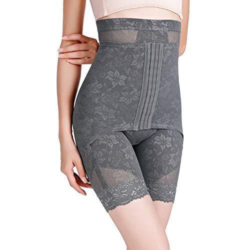 Damen Figurenformend Miederpants Einstellbar Miederhose Shapewear Bauch-Weg-Effekt Formt Sofort Nahtlose Body Shaper Mit Hoch Taille,Grau,M - 2