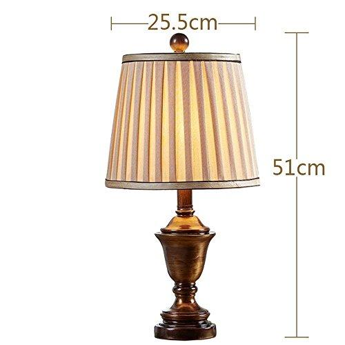 HYW Tischlampe-amerikanischen Stil Lampe Schlafzimmer Bett Drehmoment zeitgenössischen europäischen Stil kreative Wohnzimmer warm romantisch dimmbar - Zeitgenössische-sofa-bett