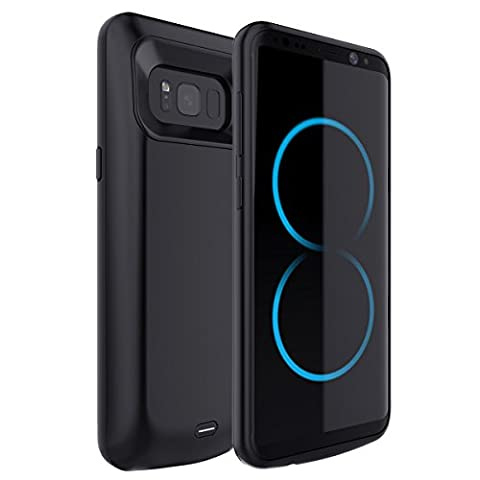 Galaxy S8 Battery Case, FugouSell 5000mAh Portable Rechargeable Extended Backup Battery Charging Juice Pack External Power Bank Protective Case Cover for Samsung Galaxy S8 2017 Release