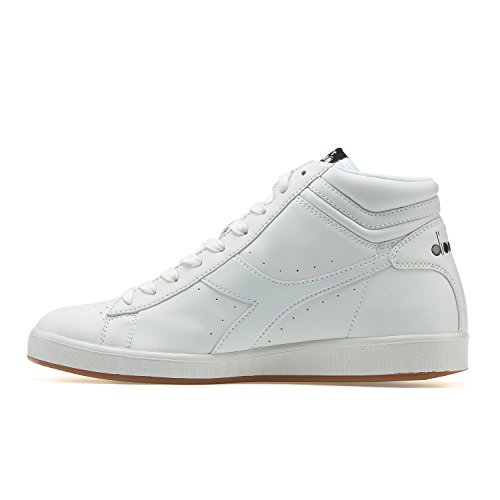 Diadora Game P - Haut, Unisexe-blanc Adulte Haut Cou Sneaker