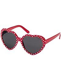 Montana Gafas Sunoptic 962 niños gafas de sol en forma de corazón de puntos en rojo más blanco