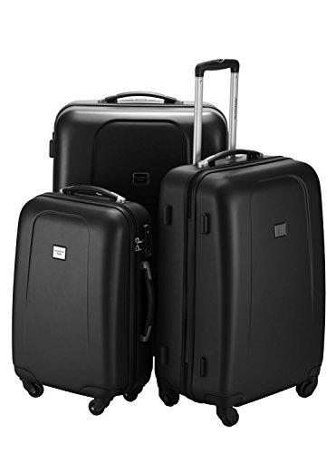 Hauptstadtkoffer Wedding 3er Kofferset Hartschale Trolley schwarz-matt 105l,71l,45l TSA Zahlenschloß