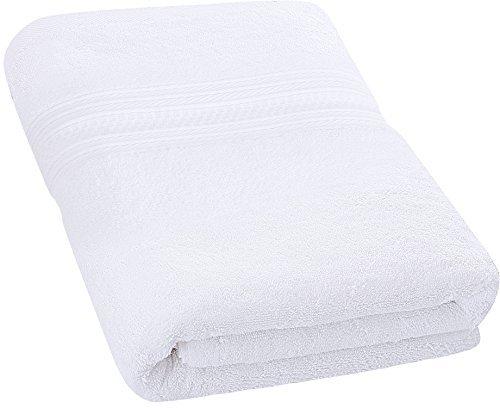 Badetuch - 700 g/m² - Premium 100% Ringgesponnene Baumwolle - Luxus Bad Blatt perfekt für Haus, Bad, Pool und Fitnessraum (Weiß, 69 x 137 cm) - Von Utopia Towels (Luxus-bad-blatt)